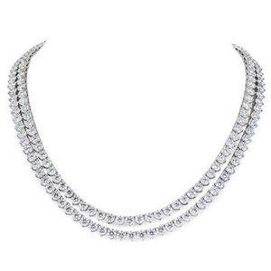White Gold 14K New Double Row 5.75 Carats Diamonds